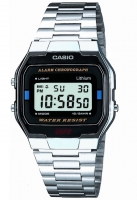 Casio Classic Men's Leisure Silver Alarm Chronograph Watch A163WA-1QES