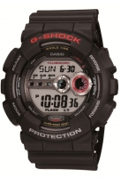 Casio G-Shock Men's Black Alarm Chronograph Watch GD-100-1AER