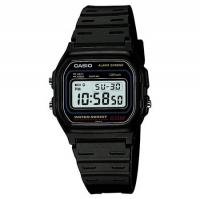 Casio Retro Alarm Men's Black Chronograph Watch W-59-1VQES