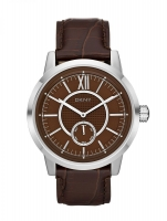 DKNY Fancy Men's Silver & Brown Watch NY1521