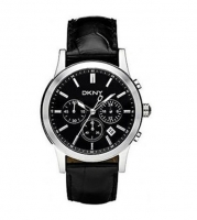 DKNY Broadway Men's Silver & Black Chronograph Watch NY1472