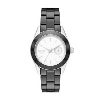 DKNY Jitney Ladies Black Ceramic Watch NY2143