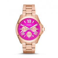 Fossil Cecile Ladies Rose Gold & Pink Chronograph Watch AM4549