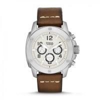 Fossil Modern Machine Men's Silver & Brown Chronograph Watch FS4929