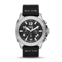 Fossil Modern Machine Men's Black & Silver Chronograph Watch FS4928