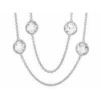 Lauren G Adams Silver Glamour by the Yard Necklace