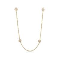 Lauren G Adams Gold Enamel Hearts Necklace