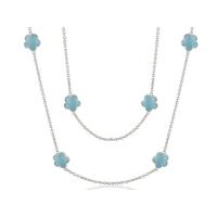Lauren G Adams Silver and Enamel Daisy Love Necklace