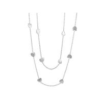 Lauren G Adams Silver Multi Heart Necklace