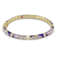 Lauren G Adams Gold and Lavender Fiesta Pattern Bangle