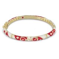 Lauren G Adams Gold and Red Fiesta Pattern Bangle