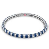 Lauren G Adams Navy Blue Stripe Tease Stackable Bangle