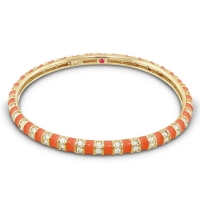 Lauren G Adams Orange and Gold Stripe Tease Stackable Bangle