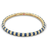 Lauren G Adams Navy and Gold Stripe Tease Stackable Bangle