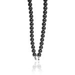 Zinzi Black Pearl Beaded 45cm Necklace