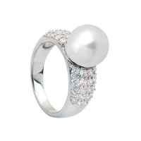 Zinzi Sterling Silver and White Pearl Statement Ring