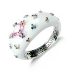 Belle Etoile Farfalla Allegra White Bangle