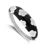 Belle Etoile Jasmine Black Bangle