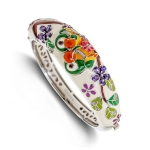 Belle Etoile Lovebirds White Bangle