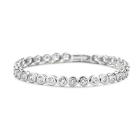 Claudine Stainless Steel Tennis Bracelet