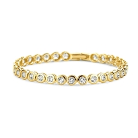 Claudine Gold Plated Tennis Bracelet
