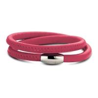 Claudine Fuchsia Pink Leather Wrap Bracelet