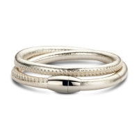 Claudine Gold Leather Wrap Bracelet
