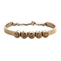 Claudine Champagne CZ Rose Gold Plated Bracelet