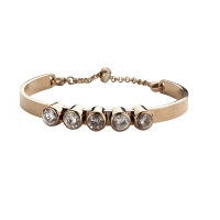 Claudine Clear CZ Rose Gold Plated Bracelet