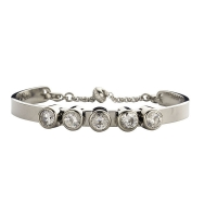 Claudine Clear CZ Silver Plated Bracelet