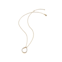Kaytie Wu Gold Plated Water Drop Necklace With Swarovski Crystals