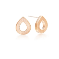 Kaytie Wu Rose Gold Plated Water Drop Earrings