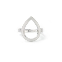 Kaytie Wu Silver Plated Water Drop Ring