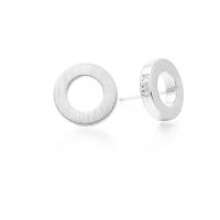 Kaytie Wu Silver Plated Circle Earrings