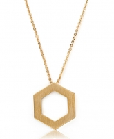 Kaytie Wu Gold Plated Hexagon Necklace