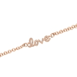 Claudine Rose Gold Plated CZ Love Bracelet