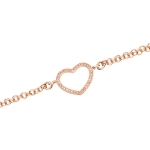 Claudine Rose Gold Plated Heart Chain Bracelet