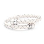 Claudine White Pearl Wrap Bracelet