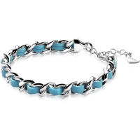 Zinzi Silver Gourmet Bracelet With Turquoise Cord