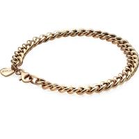 Zinzi Gold Plated 19cm Gourmet Bracelet