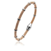 Zinzi Rose Gold Plated Magnetic Clasp Bangle