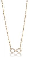Zinzi Rose Gold Plated Infinity Necklace