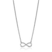 Zinzi Silver Infinity Necklace