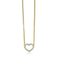 Zinzi Gold Plated Heart Necklace