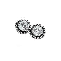 Zinzi Silver Earrings With White Zirconia