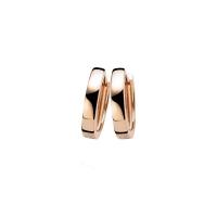 Zinzi Rose Gold Plated Hoop Earrings