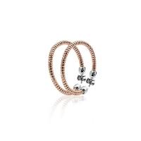 Zinzi Rose Gold Plated Twisted Hoop Earrings