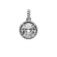 Zinzi White and Silver Pendant