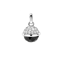 Zinzi Black and Silver Sphere Pendant