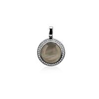 Zinzi Silver and Black Pearl Pendant